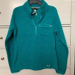 Teal under armour sweater